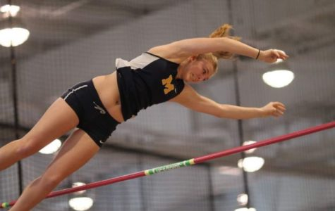 McKenna Dunn won first place in pole vault at the 4A State Indoor Track Meet.