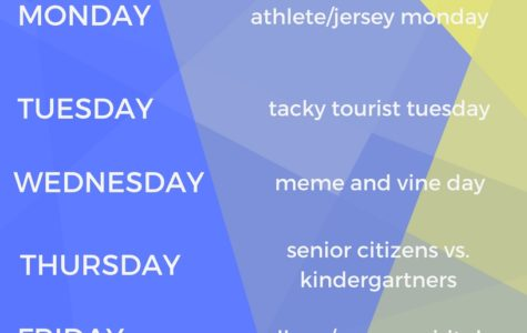 Senior Spirit Week Days Announced