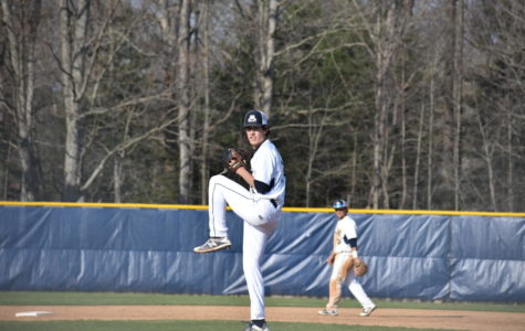 Camden Furman takes the mound against the Cavaliers.