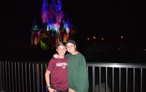 Collin Johnson and Eva Johnson enjoy Disney.