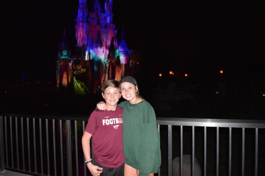 Collin Johnson and Eva Johnson enjoy Disney.