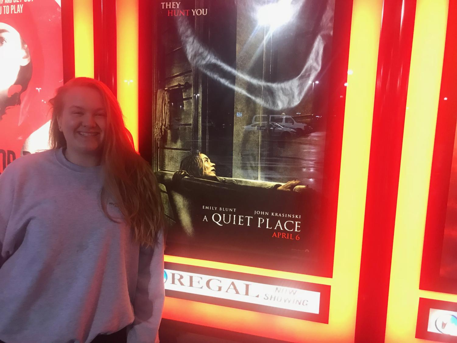 Samantha Johnson is excited to see A Quiet Place.
