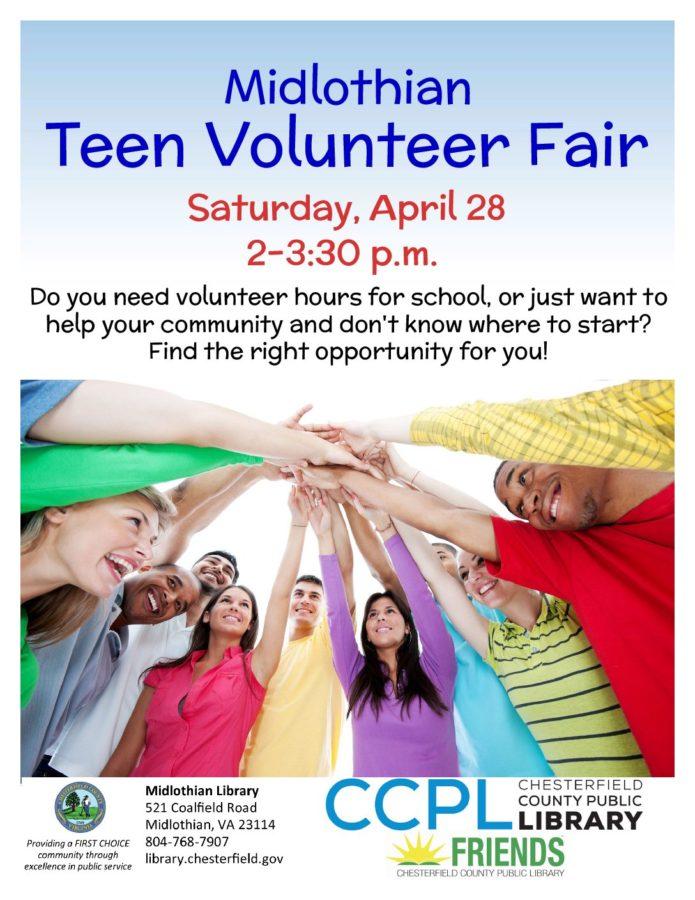 Come+to+the+Midlothian+Teen+Volunteer+Fair+to+discover+volunteer+opportunities+in+the+area.