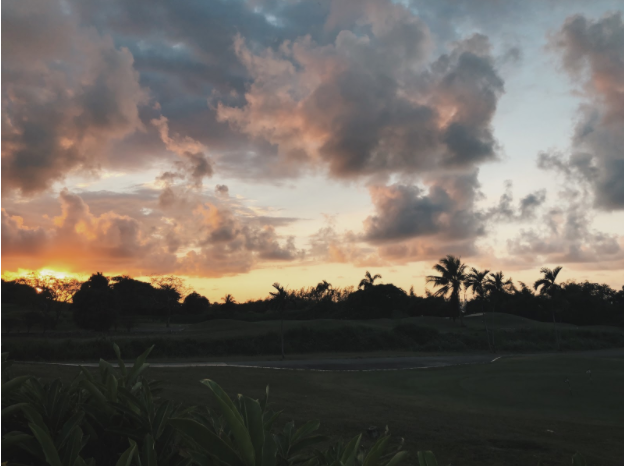 The Moskovitz family enjoys the beautiful skies of Jamaica.