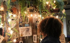 Thai Beatty admires the hero tree.