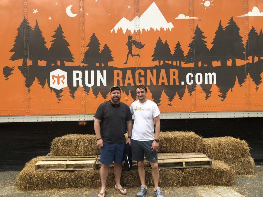 Mr.+Drew+Davis+and+Mr.+Nick+Davis+celebrate+their+accomplishments+after+the+2018+Ragnar+Race.
