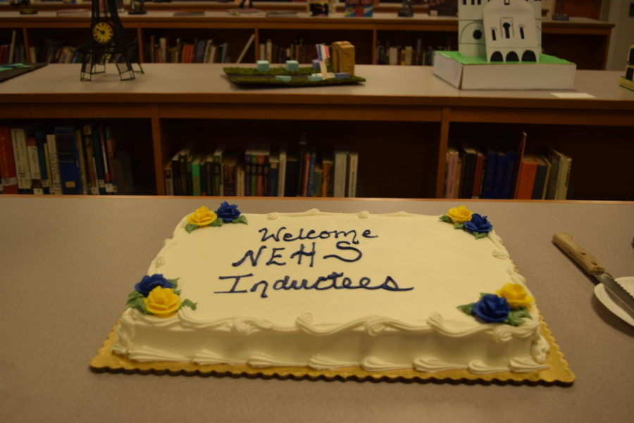 After the NEHS induction, attendees enjoyed a reception.
