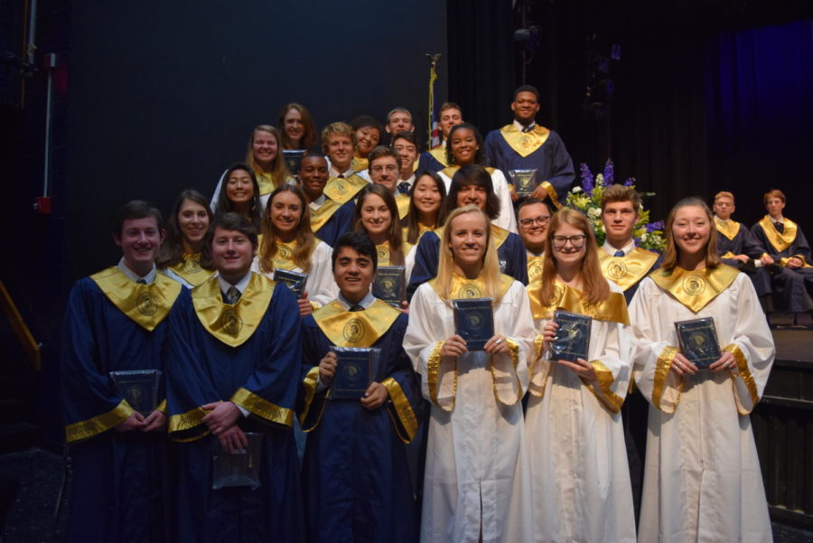 Midlothian Senior Leadership Awards: Brooke Bailey, BJ Beckwith, Will Brown, Nikolas Churchill, Elijah Dorman, Spencer Dorman, Jade Durant, Truitt Elliott, Hunter Forsythe, Morgan Gilbert, Kenny Harbula, Chase Hebert, Omar Jackson, Casey Joyce, Christina Ju, Joy Li, Nia Lloyd, Vincent Mangano, Lindsey Merillat, Heidi Peterson, Elise Pritchard, Matthew Rice, Margaret Weinhold, Liza Wimbish, and Kimmy Wrobel