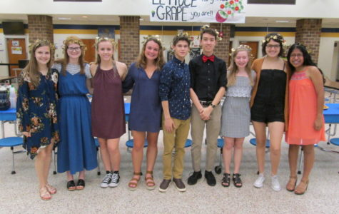 Latin students enjoy Latin Banquet 2018.
