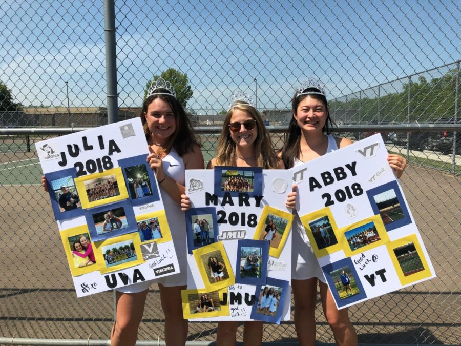 Midlothian+Girls+Varsity+Tennis+team+senior+night+2018.