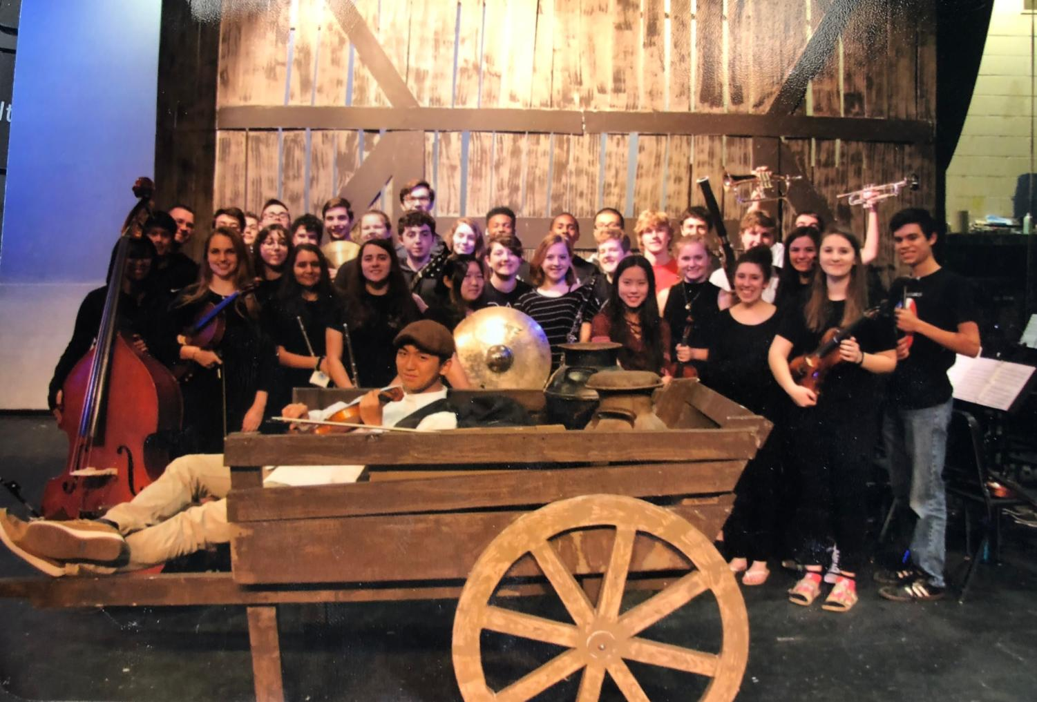 The 2018 FIddler on the Roof musical pit orchestra.