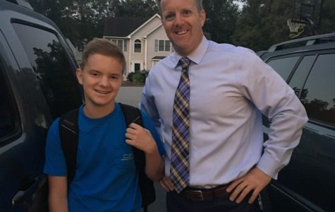 Jackson Abel goes to school with his dad, Principal Shawn Abel