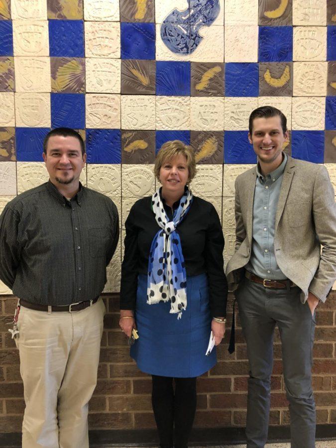 Midlo music teachers, Mr. Rawls, Mrs. Graham, and Mr. Fletcher, earn the Blue Ribbon of Excellence for Music.
