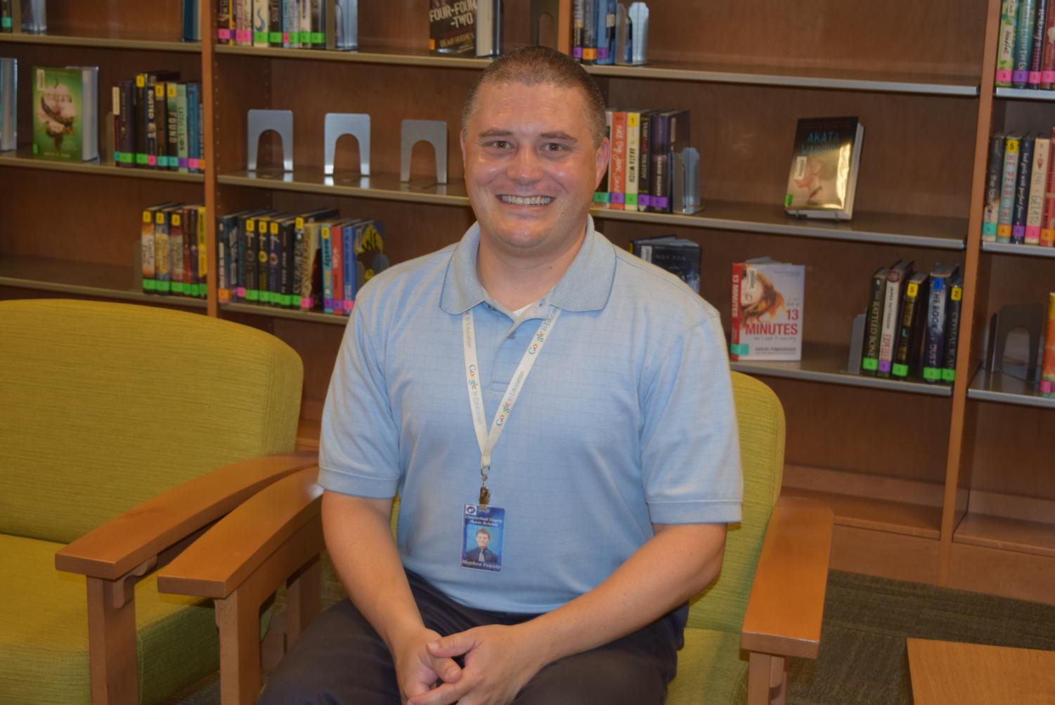 CCPS Technology Integrator Mr. Matt Fuquay earns Midlo's June Employee of the Month recognition.