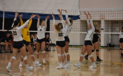 Girls Volley Against Rival Powhatan