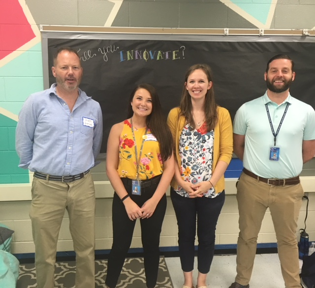 Midlothian High welcomes four new teachers to the science department: Mr. Burns, Mrs. Leinsfield, Mrs. Hill, and Mr. Woolard.