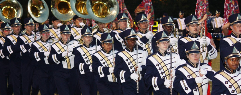 The Midlo Marching Band works to meet the physical demands of their muscially-based sport.