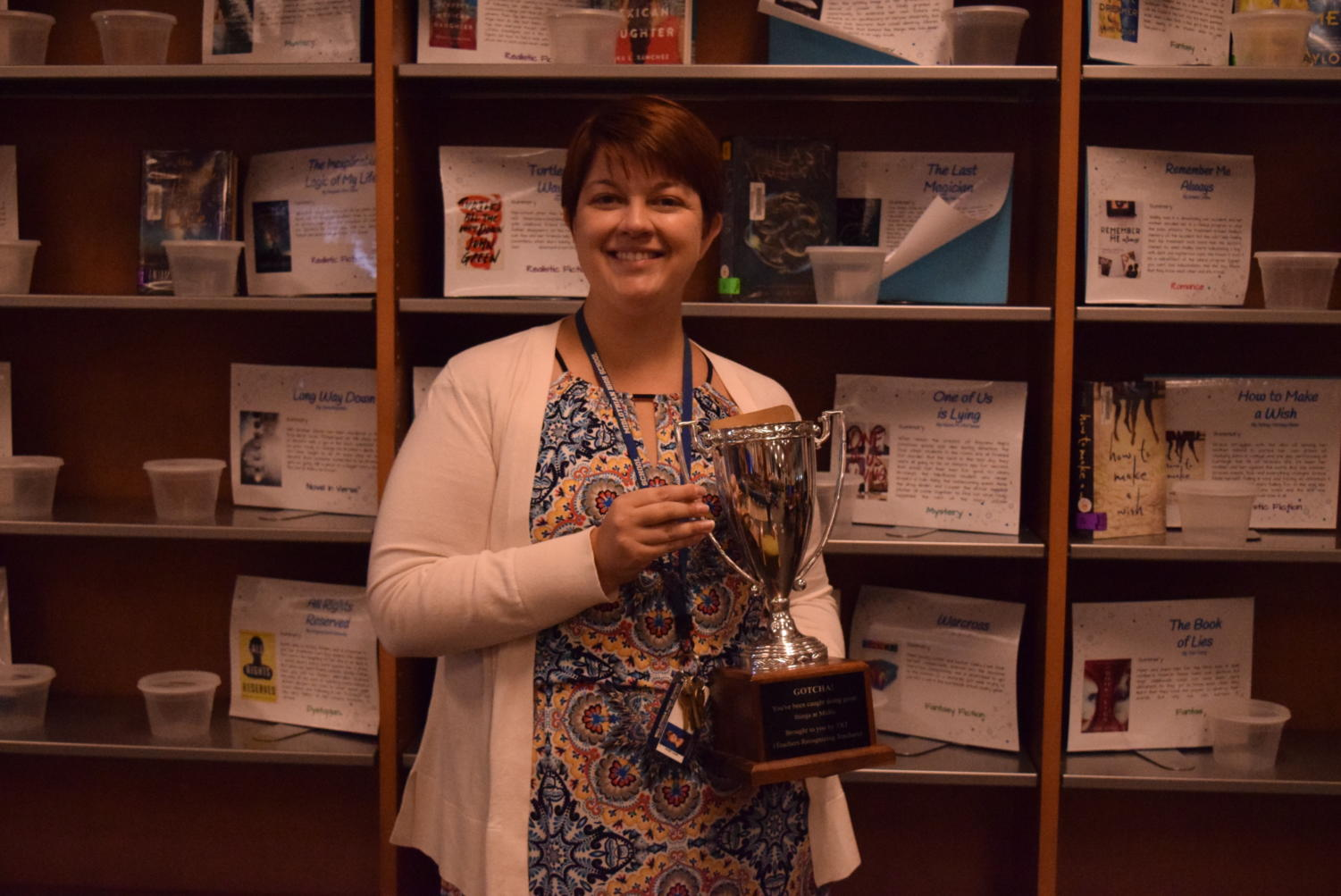 Congratulations, Ms. Emily Mazzanti, for receiving October's Teachers Recognizing Teachers Award.
