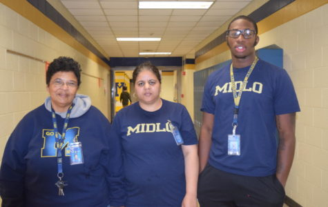 Midlothian's new Day Porters help keep the school beautiful.