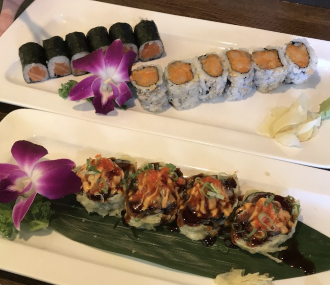 Fuji Sushi wows customers with excellent tastes with rolls, such as: salmon, spicy salmon, and the Volcano roll.