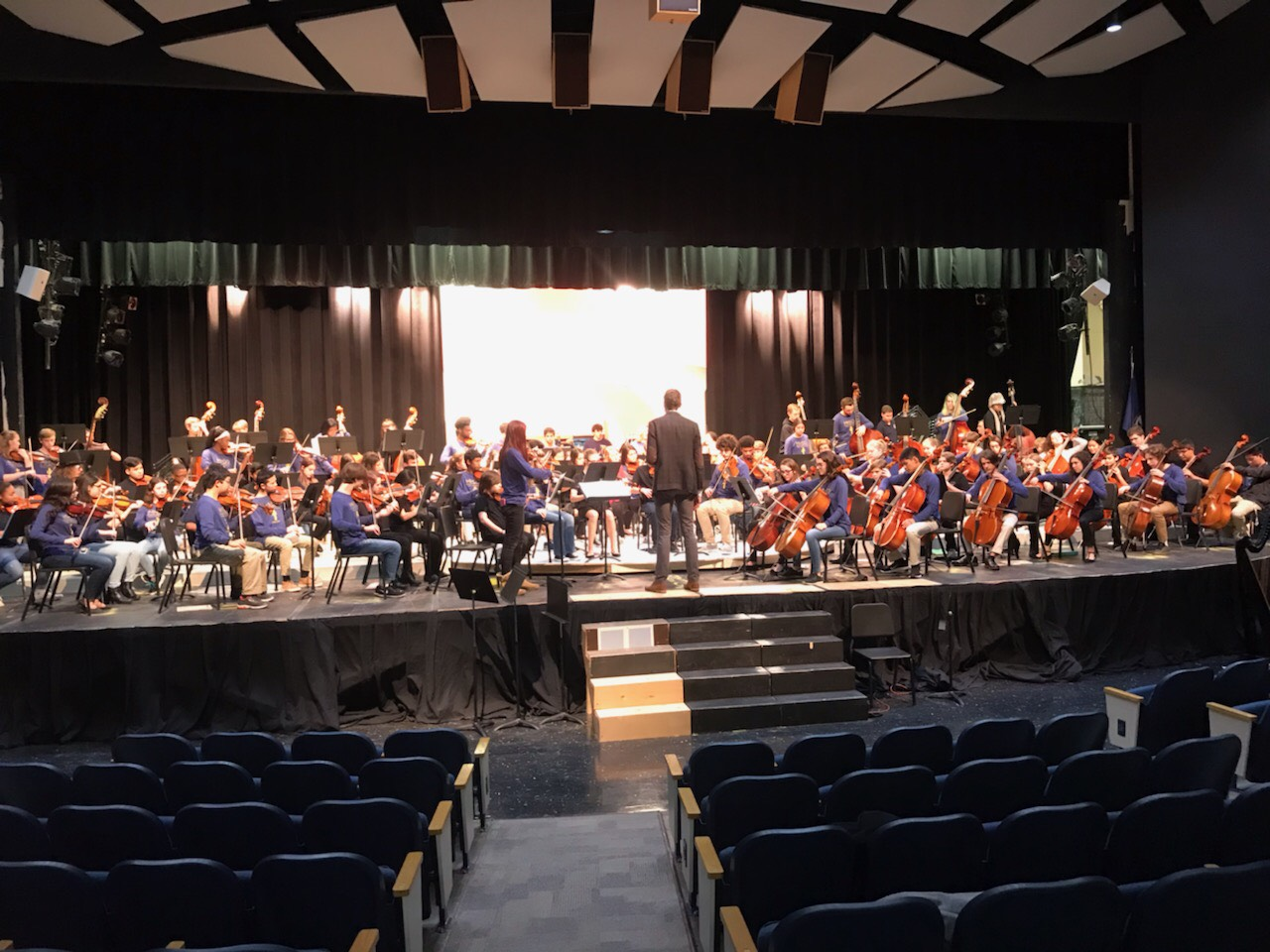 Over 100 students gathered for the annual combined fall orchestra concert.