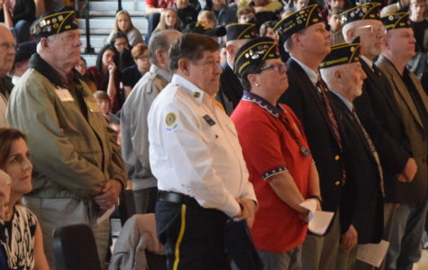 Midlothian High School honored veterans at the Military Appreciation Day Assembly, held on November 9, 2018.