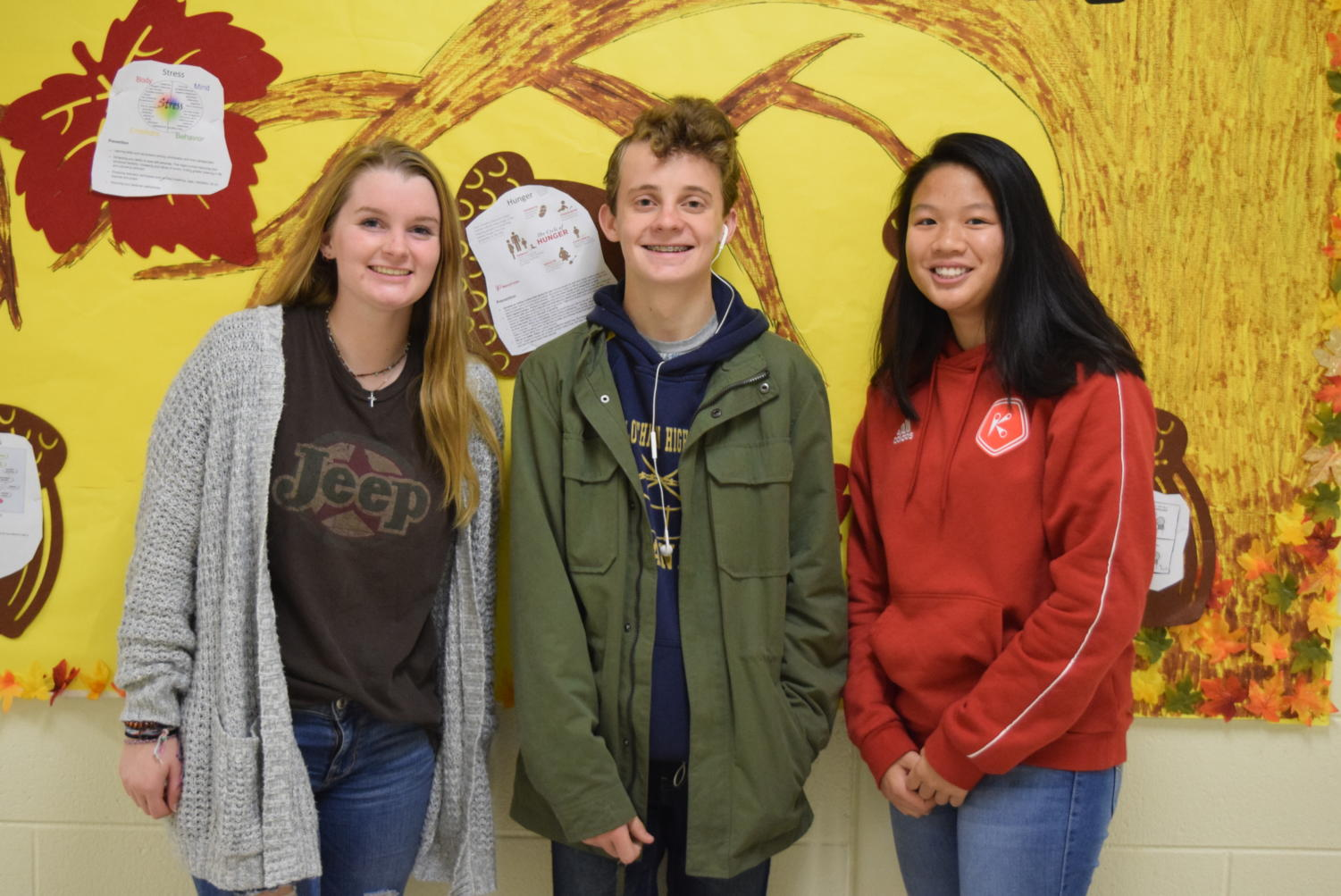 Cara Hahn, Noah Burch, and Emily Truong count down the days for their Thanksgiving traditions to start.