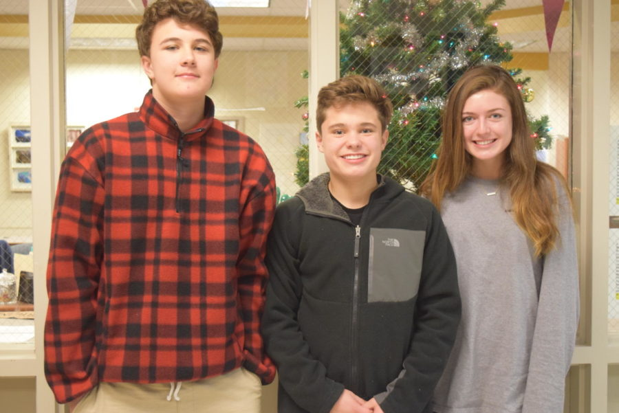 Freshmen+Will+Haemker%2C+Gage+Smith%2C+and+Olivia+West+look+forward+to+their+holiday+plans+during+the+upcoming+break.
