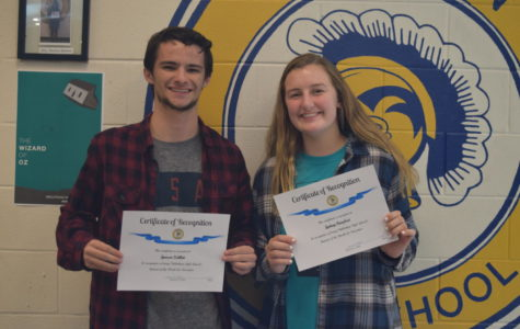 Congratulations to Students of the Month, Sydney Barefoot and Spencer Willett.
