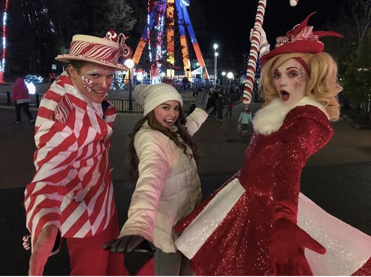 The lovable Candy Cane Characters at Kings Dominion's Winterfest charm whomever meets them with their sweet attitudes.