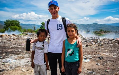 Josue Candelaria goes sightseeing in Guatemala with the children from his village.