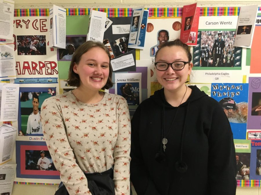 Co-presidents Sam Perez and Eleanor Barnum advocate for Girls Who Code.