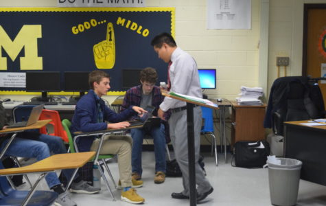 Mr. Ben Java teaches Joe Hester and Max Etka all about coding.