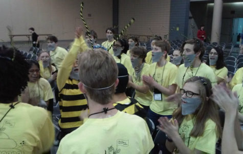 The spirit competition buzzed its way through Latin Convention with a bee theme this year.