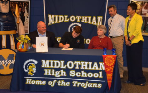 Bryson Miller signs his National Letter of Intent for Men's Lacrosse at VMI.