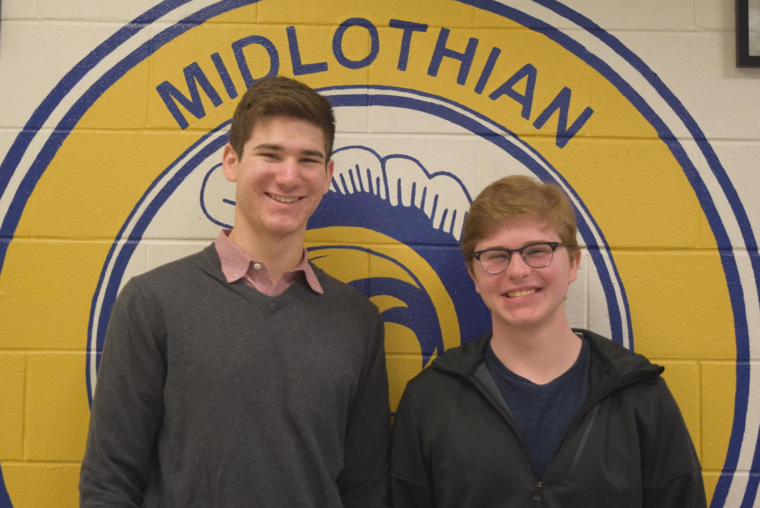 Midlo January students of the month,  Zane  Ruzicka and Brent Novey
