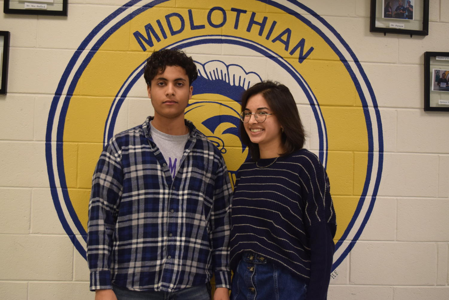 December Students of the Month: Elyas Aldugaish and Emma Rice.