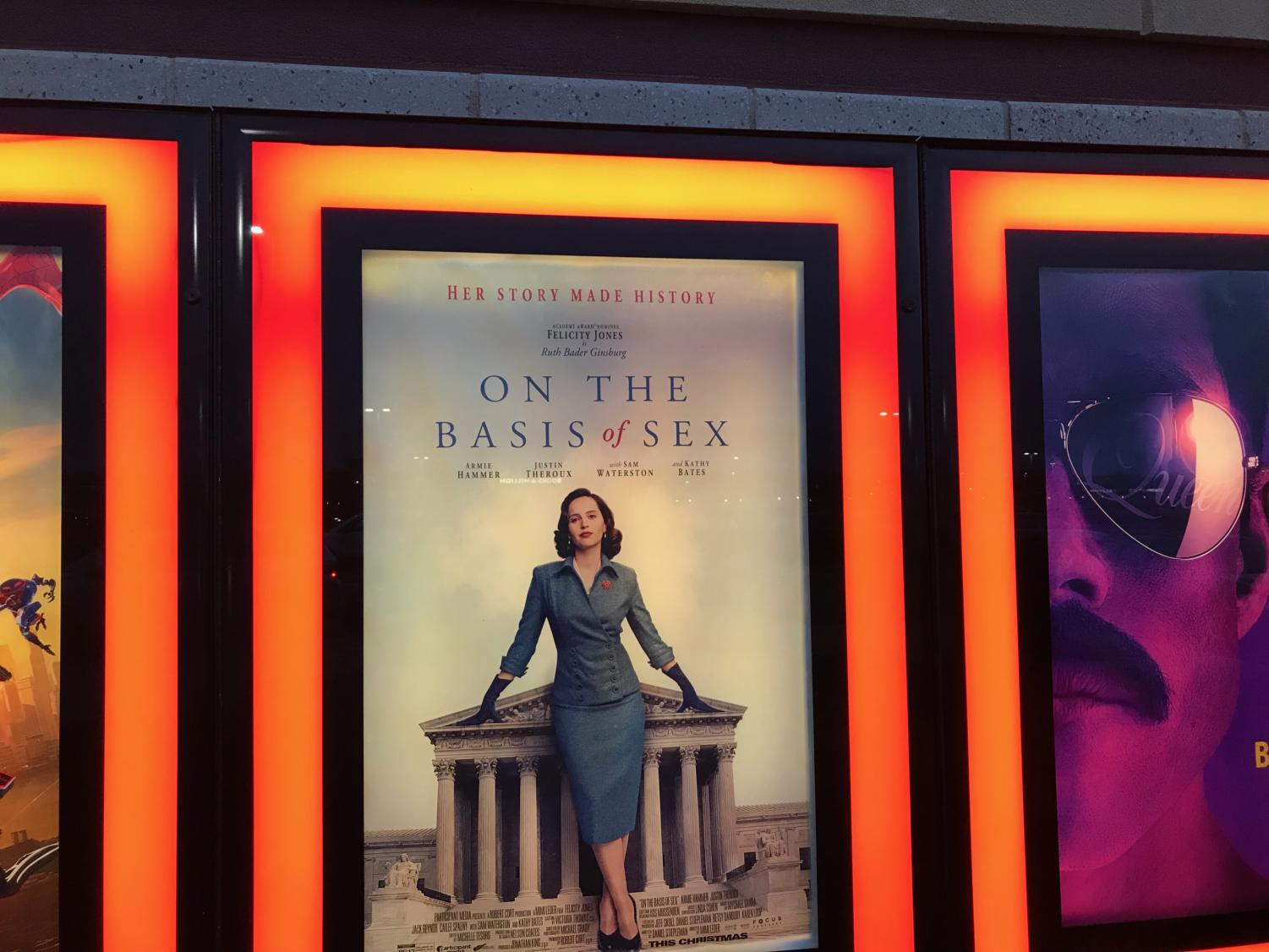 On the Basis of Sex makes its debut on Christmas Day 2018.