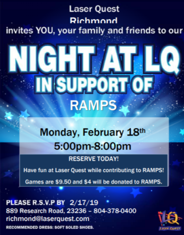 Laser Quest Host Fundraising Event for RAMPS