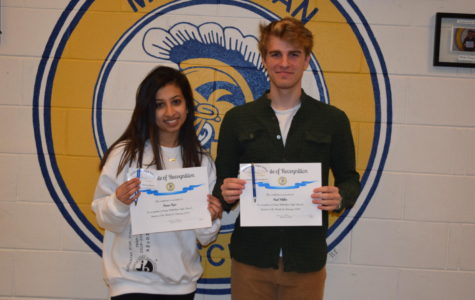 Midlo February students of the month: Avnee Raje and Paul Miler.