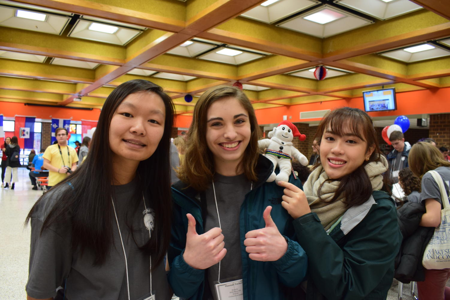 Sherinne Zhang, Hannah Tucker, and Amanda Chok prepare for their Congrés Francais competitions.