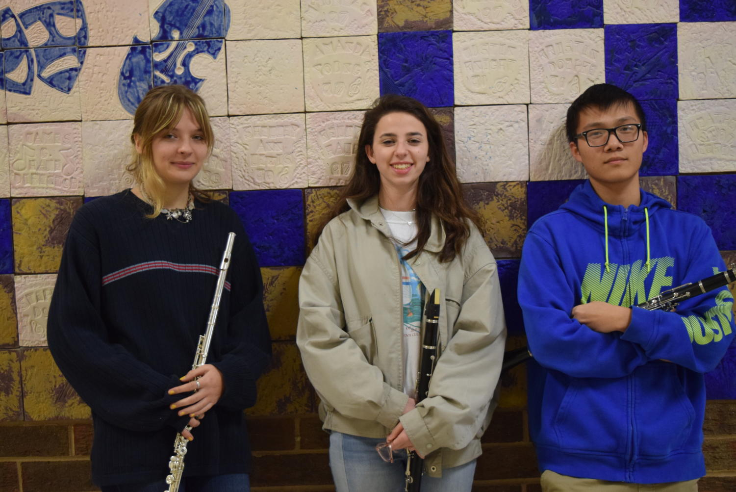 Midlothian High School All-District Band: Mary Bock, Emily Whitlow, and Vic Lin