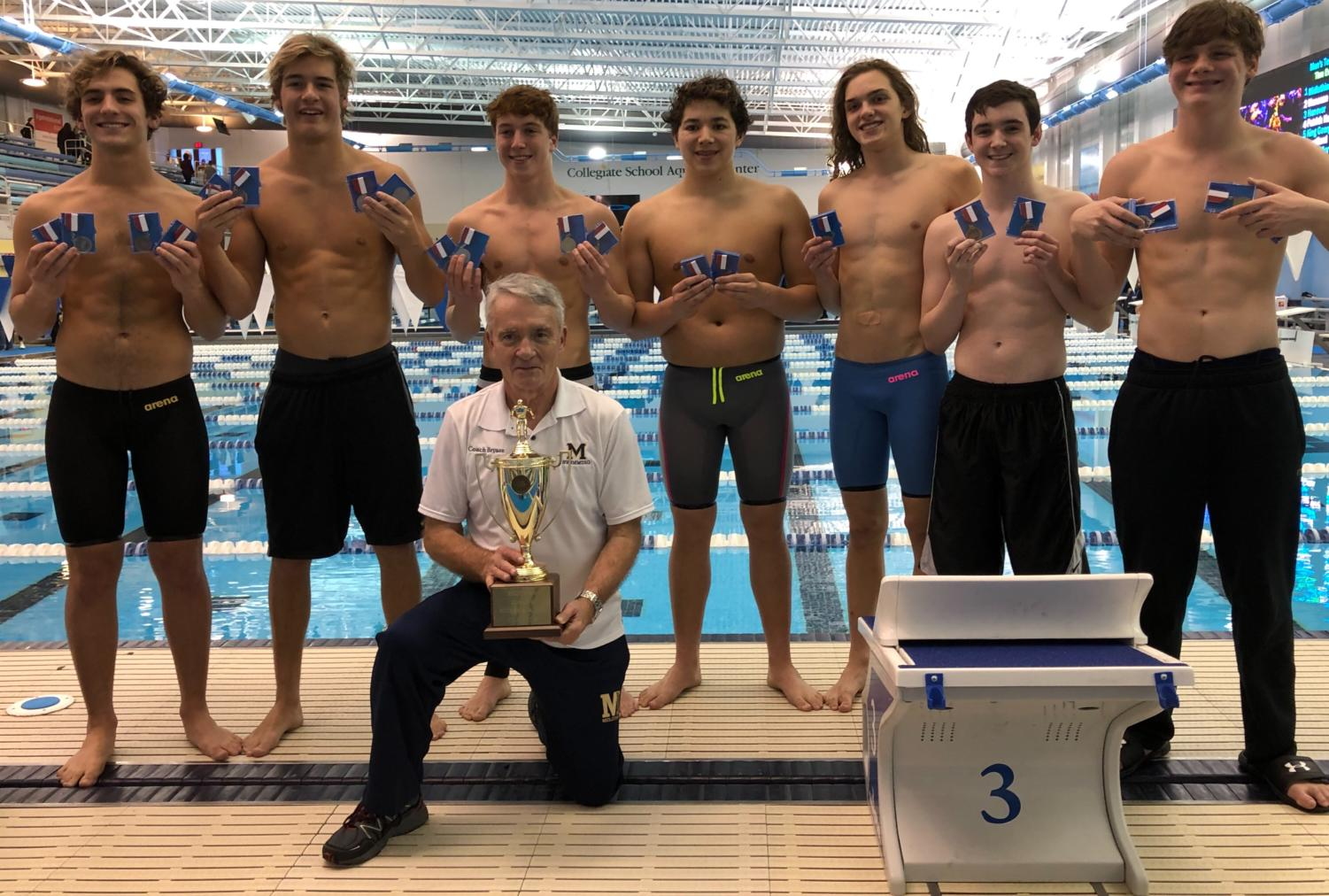 Star MIdlo swimmers show off their medals as they take on 2019 Regionals for the win.