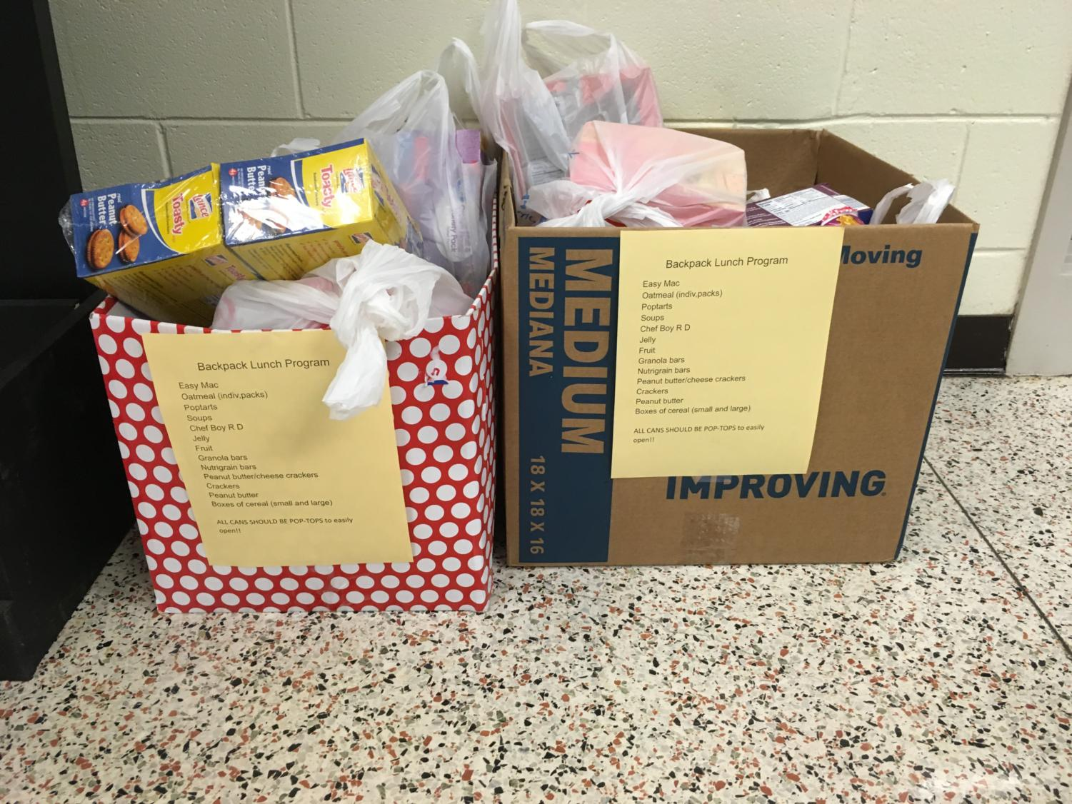 The Senior Class has collected 2 full boxes of donations.