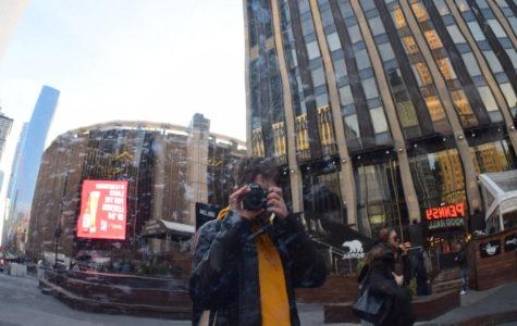 Marisa Ruotolo in Times Square.