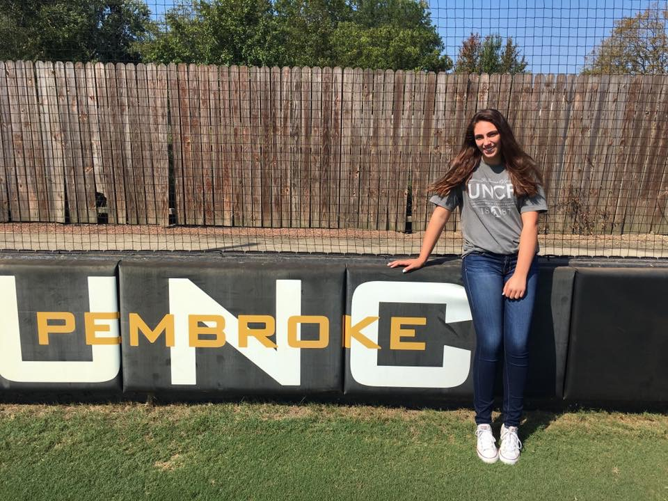 Senior Abby White officially commits to the University of North Carolina at Pembroke to play Division II Softball.