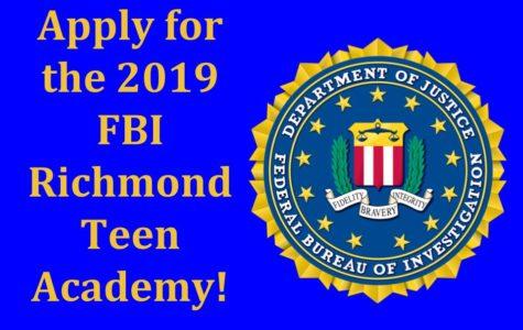 Apply for the FBI Richmond Teen Academy 2019.