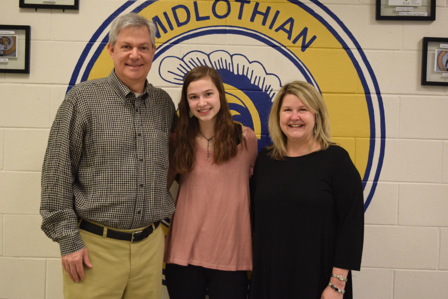 Sophomore Sarah Nugent celebrates being named 2019 Midlo Student of the Year (grades 9 and 10).