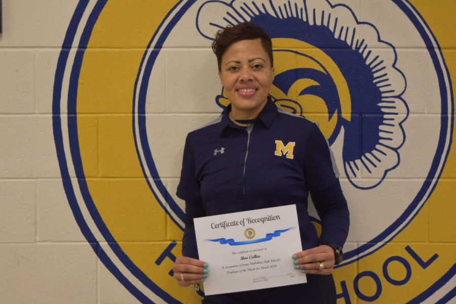Mrs. Shea Collins wins Midlo March Employee of the Month.