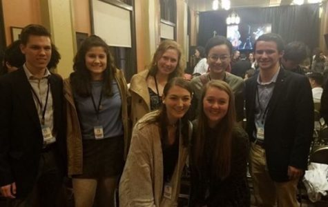 Spencer Willett, Eleanor Ross, Devyn Vernier, Zoe Hammond, Zach Speizer, Kasey Lewis, Maggie Mcdermott attend the Richmond Forum in the Altria Theater on February 23, 2019 .